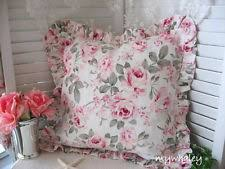 simply shabby chic bramble rose decorative deco ruffled throw toss