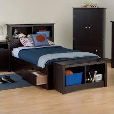 twin xl bookcase headboard bookcase platform storage bed with headboard in black bbx xx00 mkit