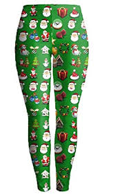 Womens The Christmas Dress To Wear The Bottom Pants Printed Tights