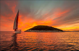 eeaa33 color wallpapers water amazing sea sunset sailboat