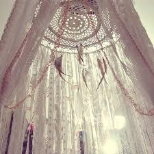 Lace Bed Canopy Boho Bed Crown Baby Crib Canopy Gypsy Nursery Decor