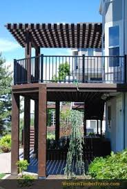 Attached Pergola Kits timber framed attached pergola over a deck and built in timber
