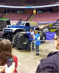 monster trucks shows getting jacked up at the monster jam truck show monsterjam