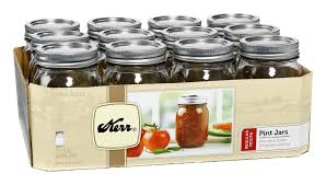 kerr pint 16oz mason jars with lids u0026 bands 12 pack