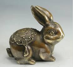 shop copper rabbit zodiac hare rabbit furnishings home