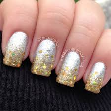 my dainty nails silver u0026 gold gradient ombre nails