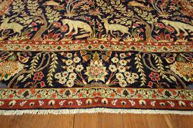 Kashan Persian Rugs by New King Of The Jungle Design 10 U0027x13 U0027 Authentic Hand Knotted