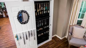 Full Length Mirror Jewelry Storage How To Diy A Built In Jewelry Organizer Youtube
