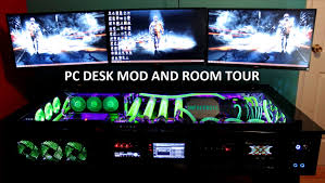 Gaming Desk Setups by My Gaming Setup Pc Desk Mod And Room Tour Youtube