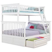 Atlantic Furniture Columbia Twin Over Full Bunk Bed Hayneedle - White bunk bed with drawers