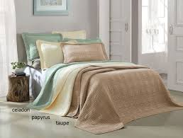 Queen Bed Coverlet Set 3 Piece Camden Taupe Coverlet Set