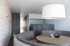 Curve Sofas by Apartment Fabulous Breakfast And Dining Area With Drum Pendant
