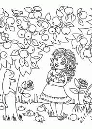 apple tree coloring page apple coloring pages for kids big collection of fruit printables