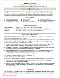 Programming Resume Examples by Resume Template Example Basic Sample Format Samples In Ms Word
