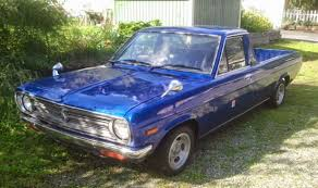 nissan trucks blue ute