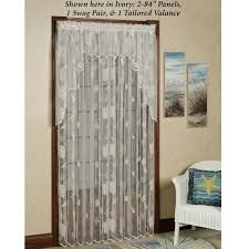 White Lace Valance Curtains Decorating Enchanting Lace Curtain Irish For Lovely Home