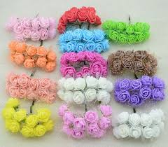 cheap flowers for wedding 12pcs cheap free shipping diy mini roses artificial flowers lace