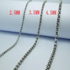 titanium link necklace images 2018 wholesale mixture mens personality titanium steel chain jpg
