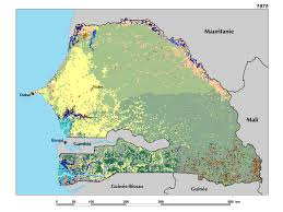 Gambia Africa Map by Ecoregions And Topography Of Senegal West Africa