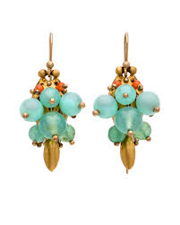 ted muehling earrings ted muehling blue opal and chrysoprase bug cluster earrings