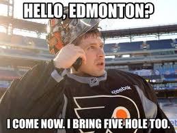 Flyers Meme - hello edmonton it is me bryz hockey memes pinterest hockey