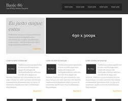 basic free html5 templates page 1 of 11 total of 94 templates
