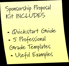 sponsorship proposal strategies for events and non profits