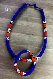 beaded rope bracelet images Beaded rope necklace bracelet combo africaboutik jpg