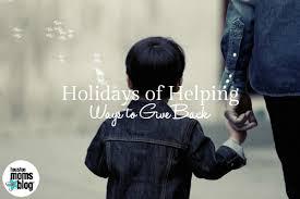 holidays of helping ways to give back houston