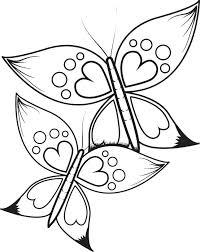 Butterflies Coloring Pages Printable Valentine Butterflies Coloring Pages For