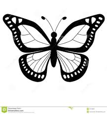 simple flying butterfly outline