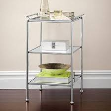 Bathroom Accent Table Grafton 3 Tier Silver Accent Table