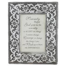 serenity prayer picture frame metal framed serenity prayer the catholic company