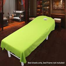 spa beds cosmetic salon beds sheets cover spa massage treatment bed table