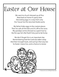 free easter poems printable easter kids poems easter poem easter at our house