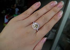 simulated engagement ring cut simulated rings wedding promise