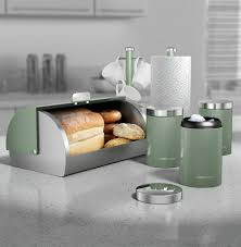 sage green 6 piece kitchen set morphy richards kitchen sets