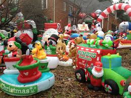 christmas inflatables is this the person with the most christmas spirit in atlanta