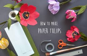 where can i buy crepe paper paper flowers how to make crepe paper tulips lucia balcazar