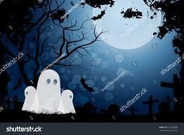 happy halloween graveyard background halloween background ghost graveyard grass stock vector 312760889