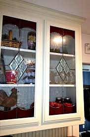 Glass Inserts For Kitchen Cabinets by 49 Best Stained Glass Cabinet Doors Images On Pinterest Kitchen