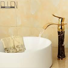 Black Vessel Sink Faucet Aliexpress Com Buy Soild Brass Gold Finish Black Stone Vessel