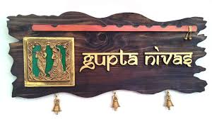 Buy Handworkz Warli Dhokra Name Plate X Free Shipping - Name plate designs for home