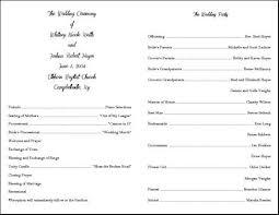 template for wedding ceremony program fresh wedding ceremony program template fototails me