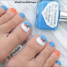 toe nail art bow