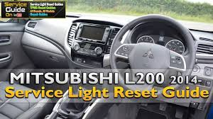 mitsubishi l200 2014 mitsubishi l200 2014 service light reset guide youtube