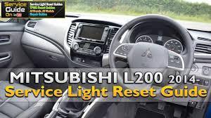 mitsubishi l200 2014 mitsubishi l200 2014 service light reset guide youtube