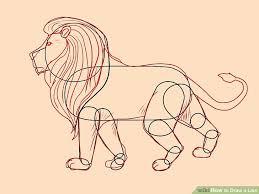 4 ways draw lion wikihow