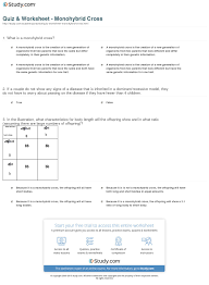 quiz u0026 worksheet monohybrid cross study com