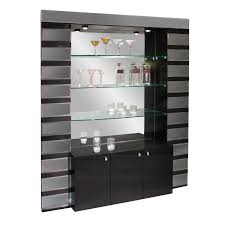 home bar shelves mera corner home bar black lacquer hayneedle